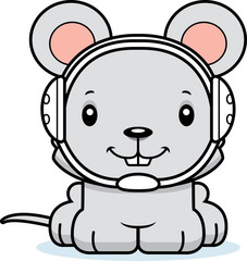 Cartoon Smiling Wrestler Mouse