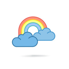 Colorful rainbow icon