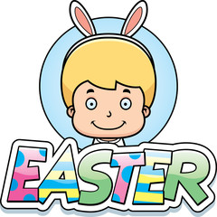 Cartoon Easter Bunny Boy Graphic