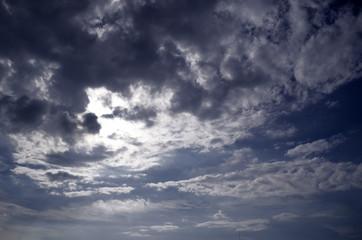 sky background with dark clouds