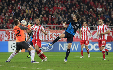 Olympiakos v Arsenal UEFA Champions League Group Stage Matchday Six Group F