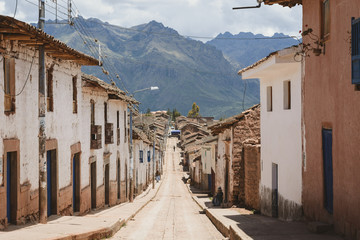 Maras city in the Sacred Valley of Peru.