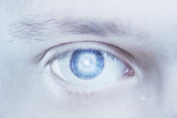 Blue digital male eye