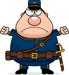 Angry Cartoon Union Soldier
