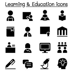 Learning & Education icon set Vector illustration Graphic design