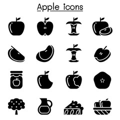 Apple icon set Vector illustration Graphic Design