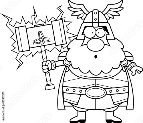 Surprised Cartoon Thor Stock Image And Royalty Free Vector Files On