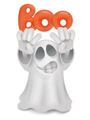 Cartoon ghost emoji character with boo title