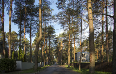 typical street in Nomme, Tallinn, Estonia