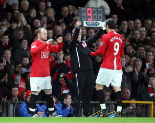 Manchester United v Fulham Barclays Premier League