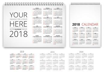 Minimalist Calendar Layout Set