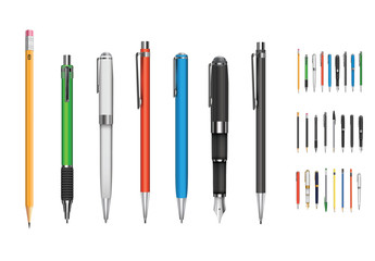 Pen and Pencil Illustration Set