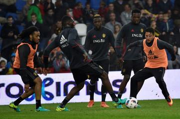 Football Soccer - UEFA European Championship 2016 - Belgium training session