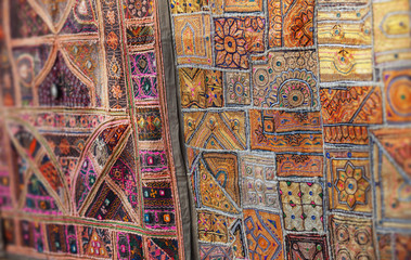 Vintage Handmade Patchwork Tapestry Wall Hanging on open market in India