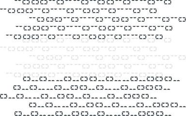 Vector illustration. Vector streaming binary code background.