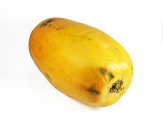 Papaya (Carica papaya) isolated in white background