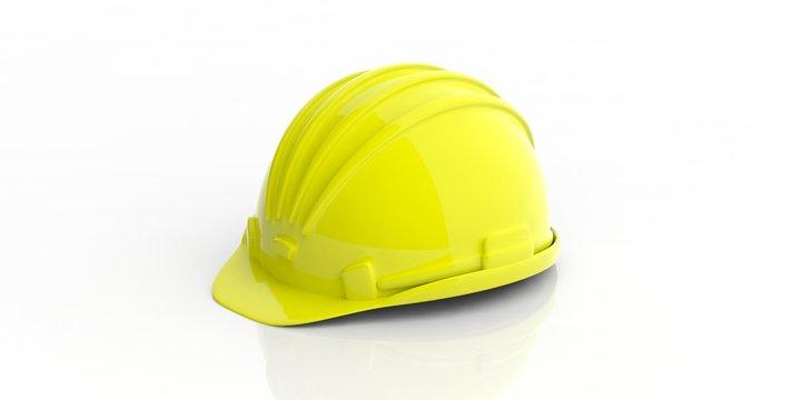 Construction helmet on white background. 3d illustration