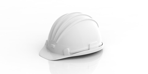 Construction helmet on white background. 3d illustration