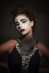 Avant Garde model with creative makeup