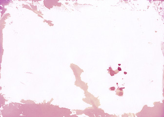 Watercolor beauty pink background with natural paper texture and spots.