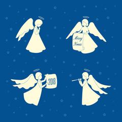 Christmas Angels and stars