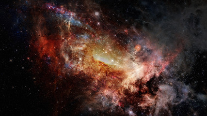 Universe scene with nebulae, stars and galaxies in outer space. Elements of this image furnished by NASA.