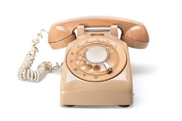 Retro phone / Retro phone, vintage telephone on white Background.