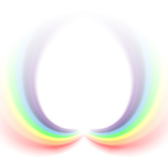 Rainbows icon. Shape arch isolated on white background. Colorful light and bright design element. Symbol of rain, sky, clear, nature. Flat simple graphic style Vector illustration