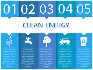 Ecology infographics, clean energy mockup