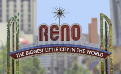 Reno Arch sign in downtown Reno, Nevada