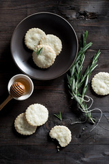 Rosemary Honey Shortbread Cookies