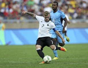 Football - Men's First Round - Group C Germany v Fiji