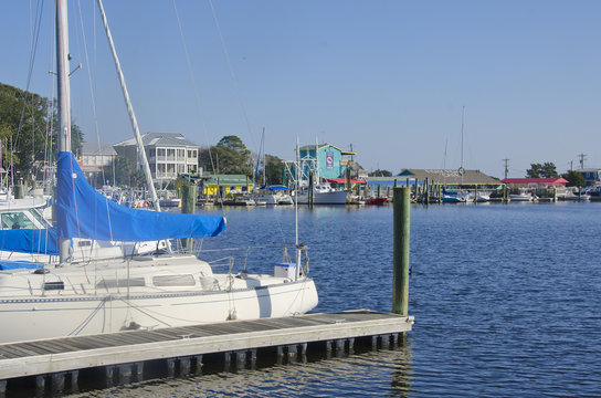 Old Yacht Basin in Southport, North Carolina