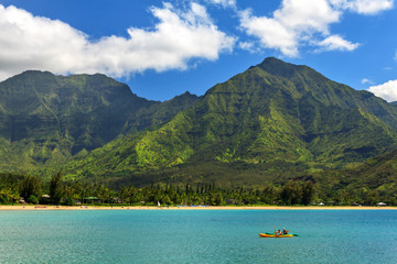 Kayaks In Hanalei Bay