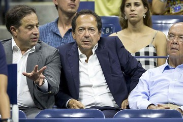 Billionaire hedge fund manager John Paulson attends the quarterfinals match between Federer of Switzerland and Gasquet of France at the U.S. Open Championships tennis tournament in New York