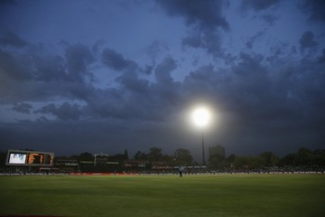 Clouds gather during the first ODI cricket match between South Africa and England in Bloemfontein