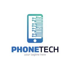 Phone Tech Logo Template Design