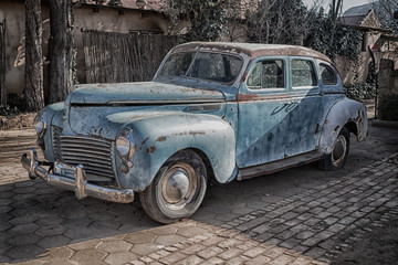 Fond de hotte en verre imprimé Vintage voitures in south africa old abandoned vintage car