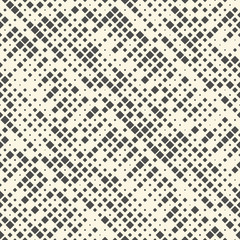 Seamless Stripe Pattern. Vector Monochrome Dots Background. Abstract Square Ornament