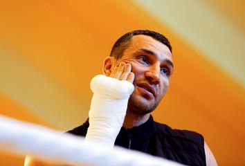 Wladimir Klitschko training