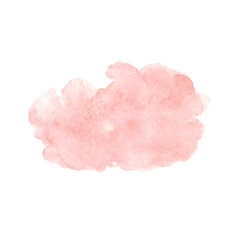 Hand painted watercolor pink texture isolated on the white background. Vector.