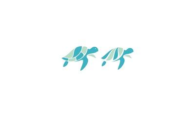 Turtles, sea, rivers emblem symbol icon vector logo