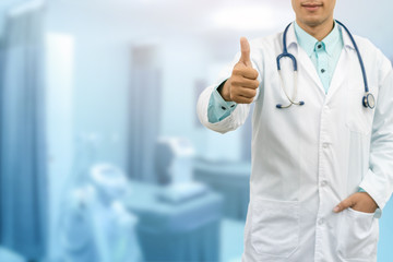 Doctor Showing Thumbs Up Hand Gesture