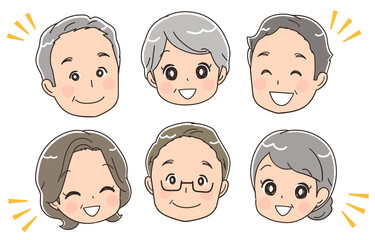 高齢者グループの顔アイコン