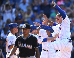 MLB: Miami Marlins at Chicago Cubs