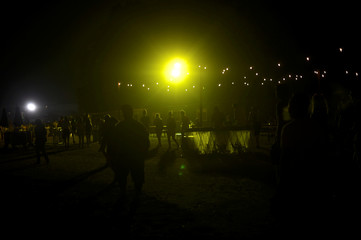 Revelers depart after the second day of the Firefly Music Festival in Dover