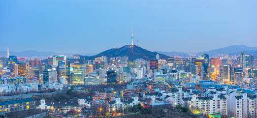 Seoul city skyline in South Korea