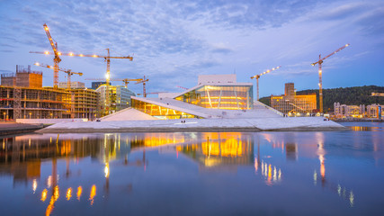Opera House in Oslo city, Norway