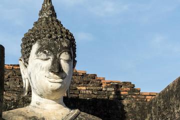 Buddha statue stucco