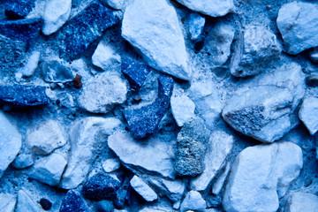 Blue tone mix of rocks